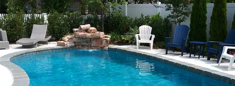 Jersey Shore Pool Rock Water Feature Usa Pools Custom Pool
